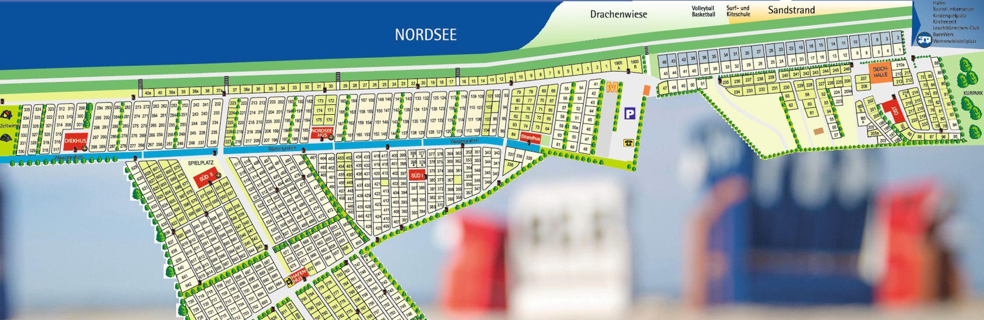 Campingplatz Neuharlingersiel Parzellenplan