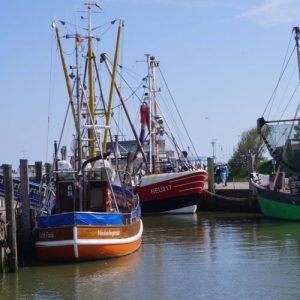 Krabbenkutter Gorch Fock im Hafen von Neuharlingersiel