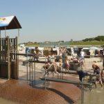 Wasserspielanlage Platschi an der Funny-Beach-Anlage am Nordsee-Strand von Neuharlingersiel