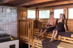 Sauna-Landschaft im BadeWerk Neuharlingersiel