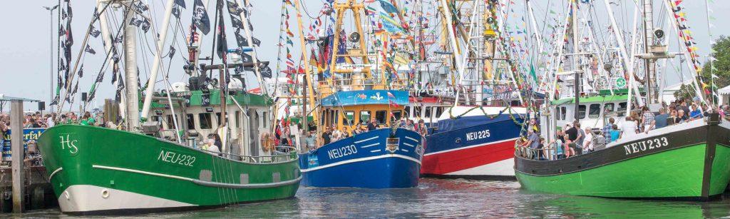 Die Kutter im Hafen von Neuharlingersiel