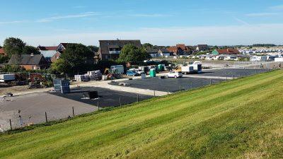 Umbau Campingplatz Ost - Erste Parzellen fertig
