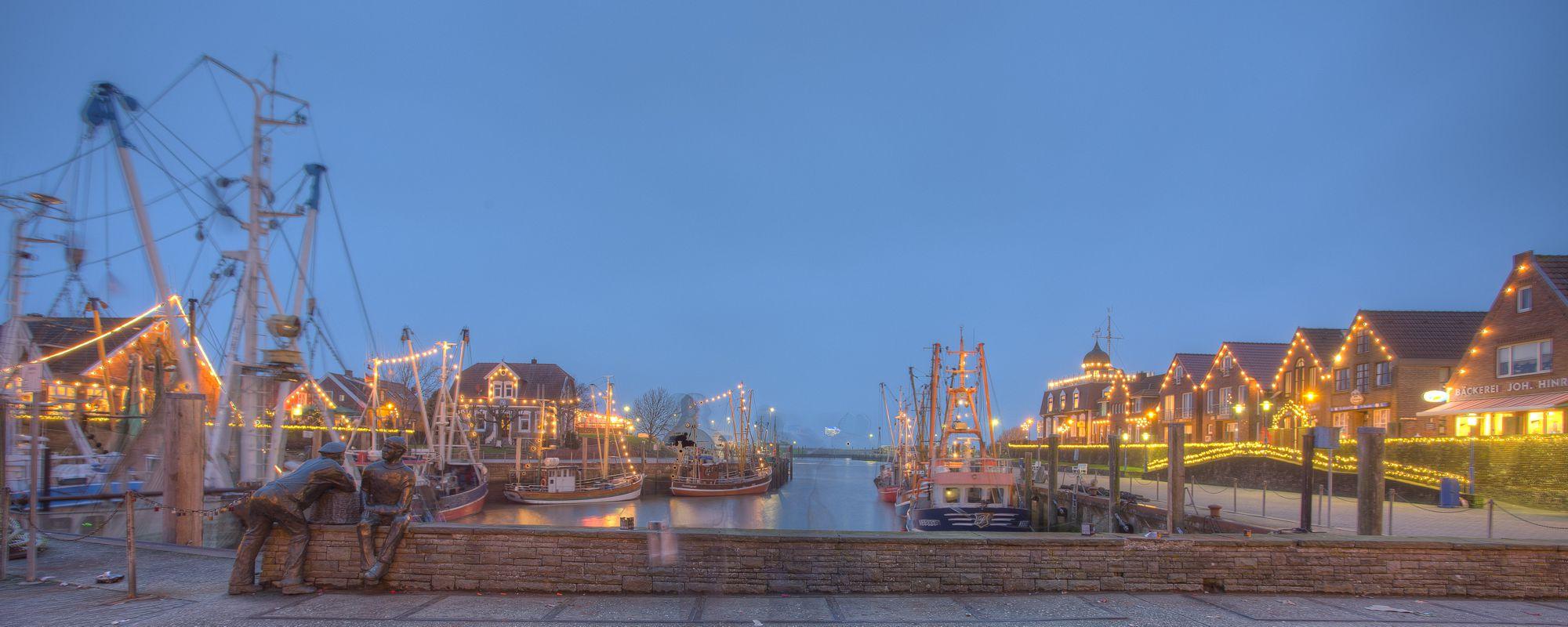 Kutterhafen Neuharlingersiel Weihnachten