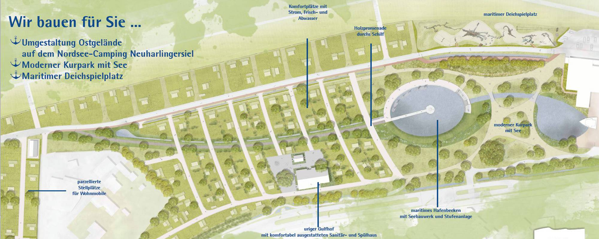 Umgestaltung Nordsee Campingplatz Neuharlingersiel