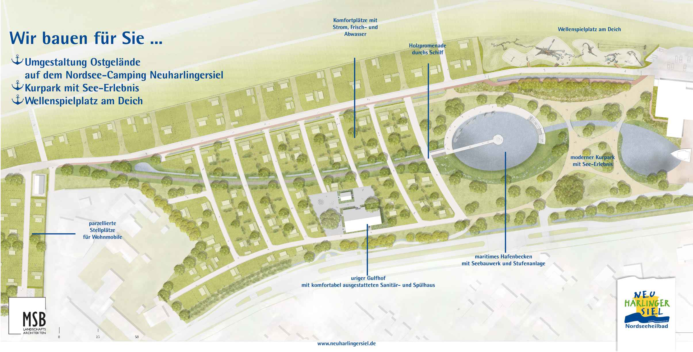 Umgestaltung Nordsee-Campingplatz Neuharlingersiel