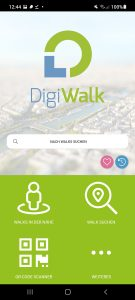Startbildschirm App DigiWalk