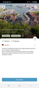 Startbildschirm Audio-Tour Neuharlingersiel